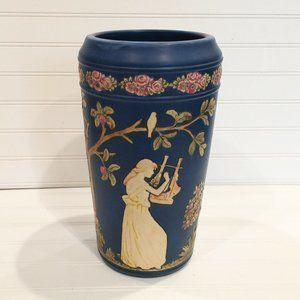 Antique Art Nouveau Weller Pottery Blue Ware Vase